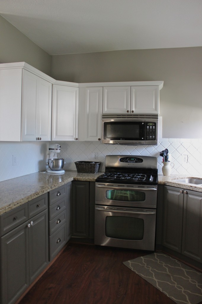 Painted Kitchen Cabinets And Backsplash Slipcovers By